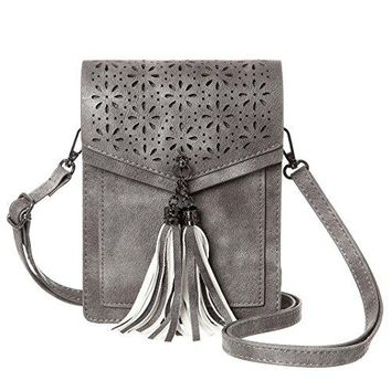 MINICAT Tassel Thicher Pocket Small Crossbody Bags Cell Phone Purse Wallet For Women With Credit Card Slots