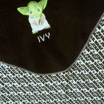 Deluxe Yoda or Darth Vader Fleece Baby/Kids Blanket - Star Wars - Personalized