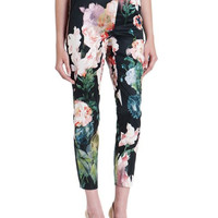 Floral Print Pencil Pants With Pocket