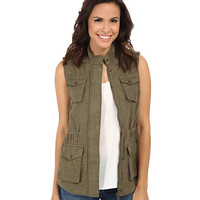 Lucky Brand Military Vest Loden Green - 6pm.com