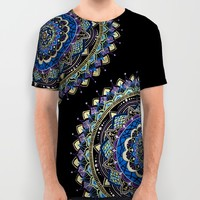 Peacock Colors Mandala All Over Print Shirt by YiaEfthimia