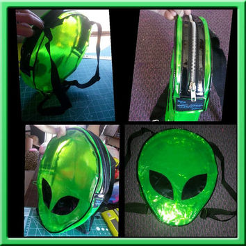 Alien UV Vinyl backpack bag