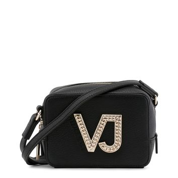 Versace Jeans black with gold logo crossbody bag
