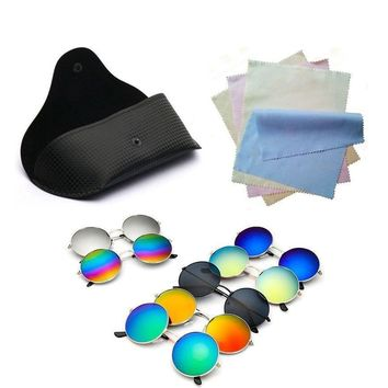 Round Retro Mirror Collection Sunglasses - 15 Colors