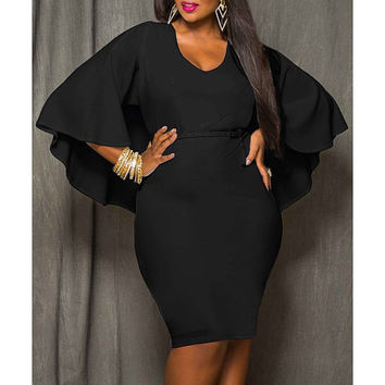 Party Dress Design, Little Black Dress, Evening Dress, Cape Dress, Sexy Dress, Plus Size Dress, Fitted Dress, Holiday Dress, Club Dress