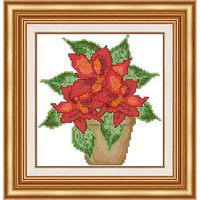 Christmas flowers -  PDF Cross Stitch Pattern - INSTANT DOWNLOAD