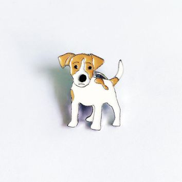JACK RUSSELL TERRIER brooches for women girls men silver color metal alloy animal male female dog brooch pins clothes jewelry