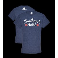 Southern Couture Southern Mama Flower Front Print Girlie Bright T Shirt