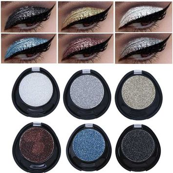 2018 Shimmer Shine Shadows Eye Palette New Makeup Waterproof Mineral Powder Black Gold Silver Metallic Eyeshadow Glitter Make Up
