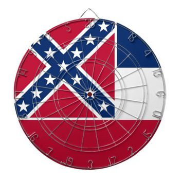 Dartboard with Flag of Mississippi, USA