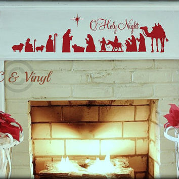 Nativity O Holy Night Vinyl Wall Art