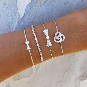 Connect Circles & Bow Bracelet Set