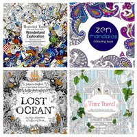 Adult Coloring Book Collection - Includes 4 Advanced Coloring Books for Grown Ups