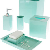 lacca bath accessories - light blue - ABC Carpet & Home
