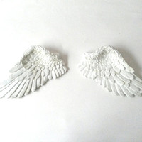 Angel wings, wall decor, wall hanging, small angel wings, angel wings ornament, large white wings, white angel wings, French Nordic style,