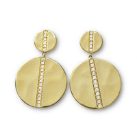 Ippolita 18K Gold Senso™ Large Snowman Earrings with Diamonds