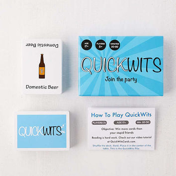 QuickWits Card Game | Urban Outfitters