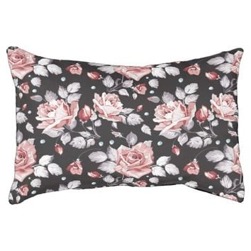 Vintage Pink Floral Pattern Dog Bed