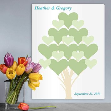 Personalized Guestbook Canvas - Flourishing Hearts