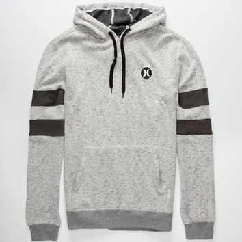 Hurley Block Party Retreat Mens Hoodie Heather Grey  In Sizes