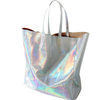 Silver Hologram Tote Bag