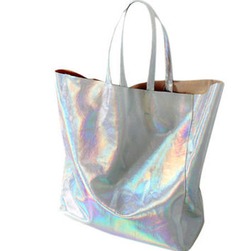Silver Hologram Tote Bag- Last One