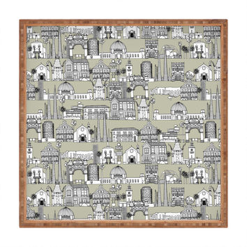 Sharon Turner Los Angeles Linen Square Tray