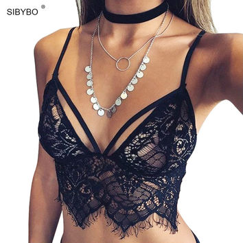 0ab877f951 Bustier Crop Top 2016 Summer Sexy Camisoles White   Black Bralet