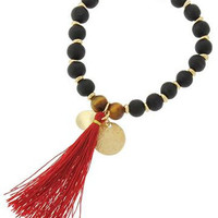 Fall Tassel Bracelet | Red
