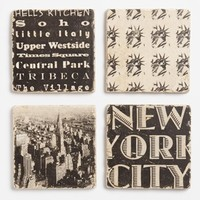 'New York City' Marble Coasters (Set of 4)
