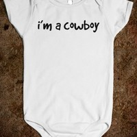 I'M A COWBOY BABY ONE PIECE T-SHIRT