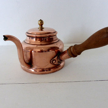 Vintage French Copper Chocolate Pot