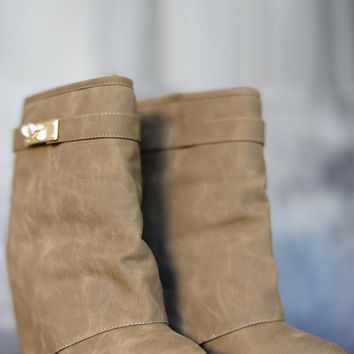 Nessie Booties - Taupe