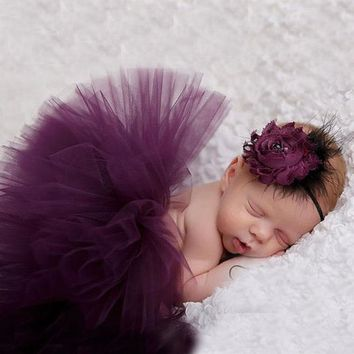 Sweet Simplicity Tutu And Tiara Set Stunning Unique Newborn Photo Prop And Halloween Costume Baby Tutus TS026
