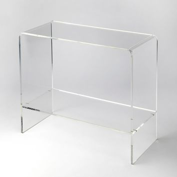 Butler Crystal Clear Acrylic Console Table