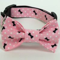 Cat or Dog Collar Bow Tie set
