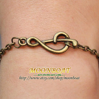 Antique Bronze Retro Style Note Bracelet MB281 by moonboat on Etsy