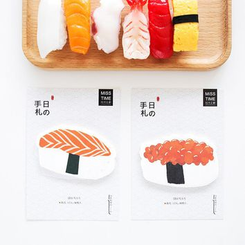 4 pcs/Lot Sushi sticky notes Japanese food memo pad Post it Diary sticker scrapbooking Office accessories School supplies 6564