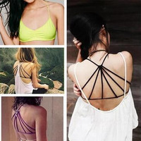 New Womens Retro Casual Cotton Top Bra Gift 40