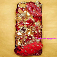 unique iphone 5 case Luxury Bling iphone 4 case by BlingBlingCover
