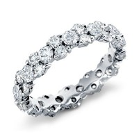 Wedding Band - Garland Diamond Eternity Ring 2.52 TCW in 14 Karat White Gold