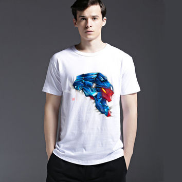 Fashion Tee Casual Strong Character Men's Fashion Summer Cotton Stylish Creative Short Sleeve T-shirts = 6450554755