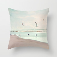take off Throw Pillow by Sylvia Cook Photography