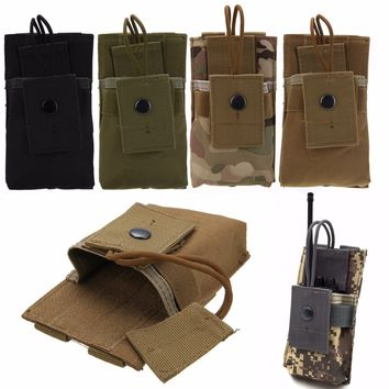 Mayitr Tactical Nylon MOLLE Radio Case Holder Holster Walkie Talkie Open Top M4 Mag Pouch