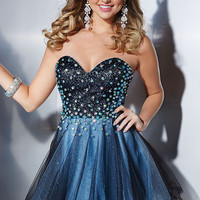 Short Strapless Prom Dress by Hannah S