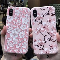 Fashion printing Flower mobile phone case for iPhone X 7 7plus 8 8plus iPhone6 6s plus -171121