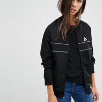 Le Coq Sportif Bomber Jacket With Piping