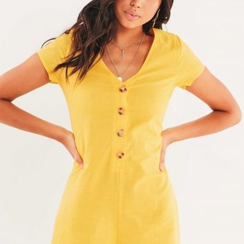 Wishful Playsuit - Yellow