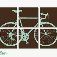 Large Custom Road Bike Wall Art - Bicycle Painting - 24x 36 Screen Print by RightGrain