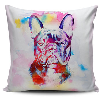 Colorful French Bulldog Pillowcase